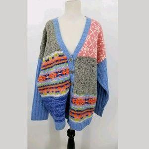Sundance XL Oversize Nordic Sweater Cardigan